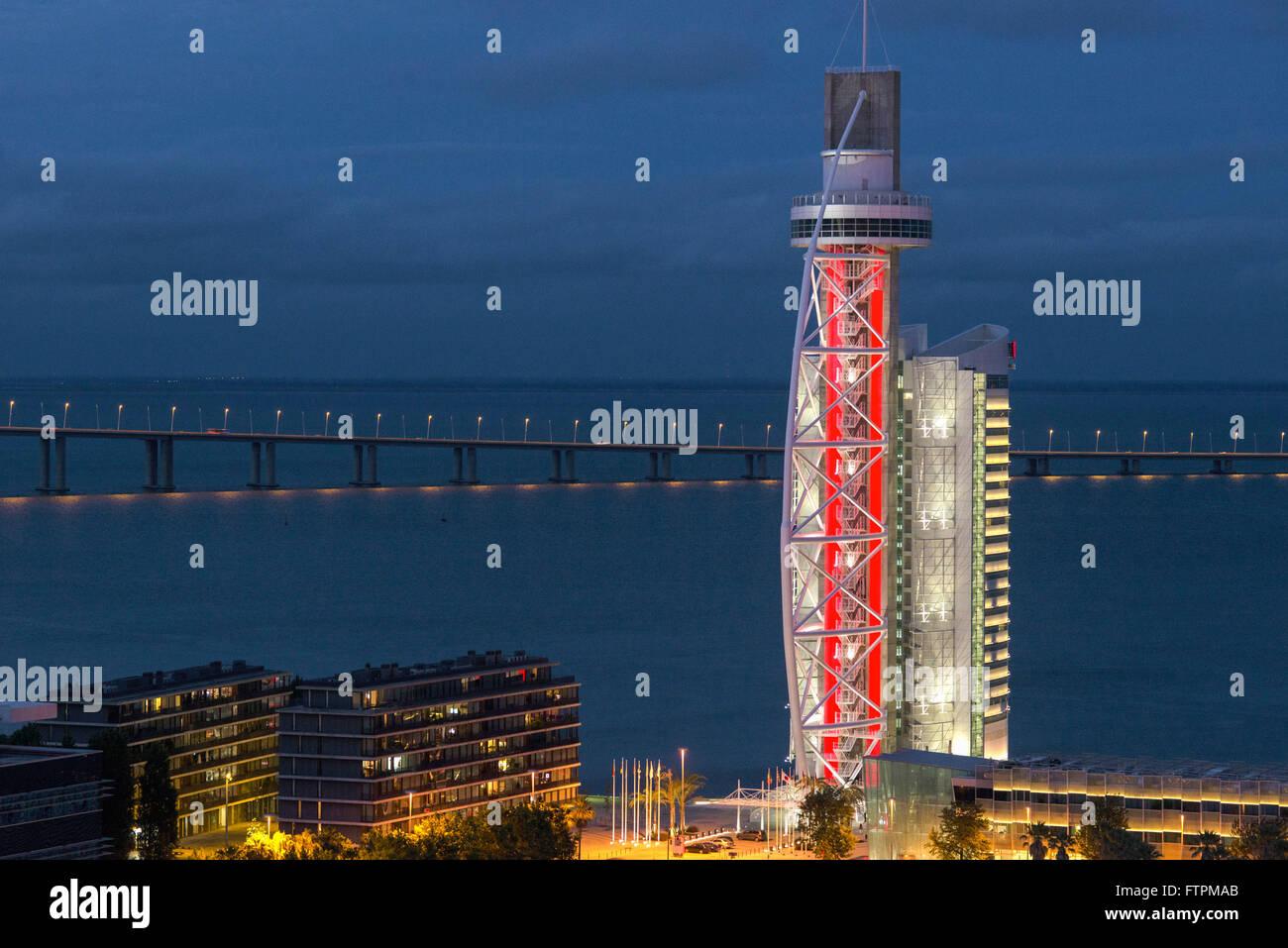 Vasco da Gama Tower in the Park of Nations - Stock Image