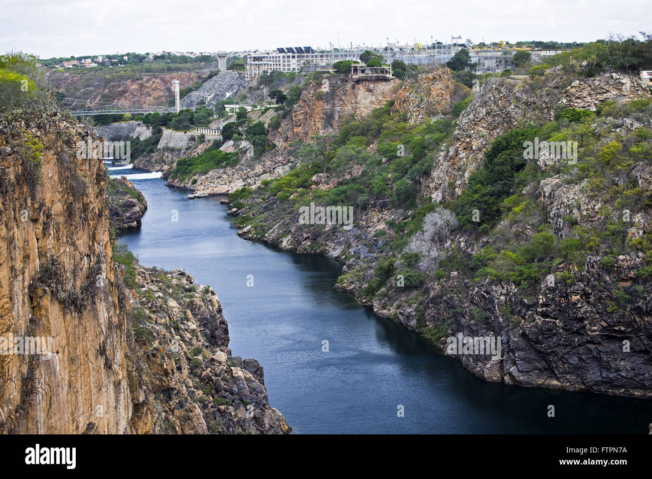 Sao Francisco River bed in period of drought - backlands of Bahia Stock Photo