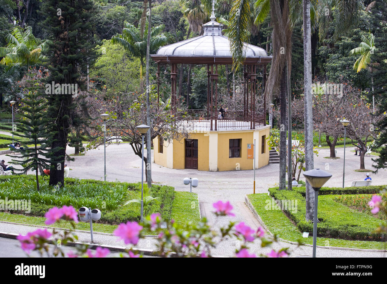 Bandstand in Americo Renne Giannetti Municipal Park in the city center - Stock Image