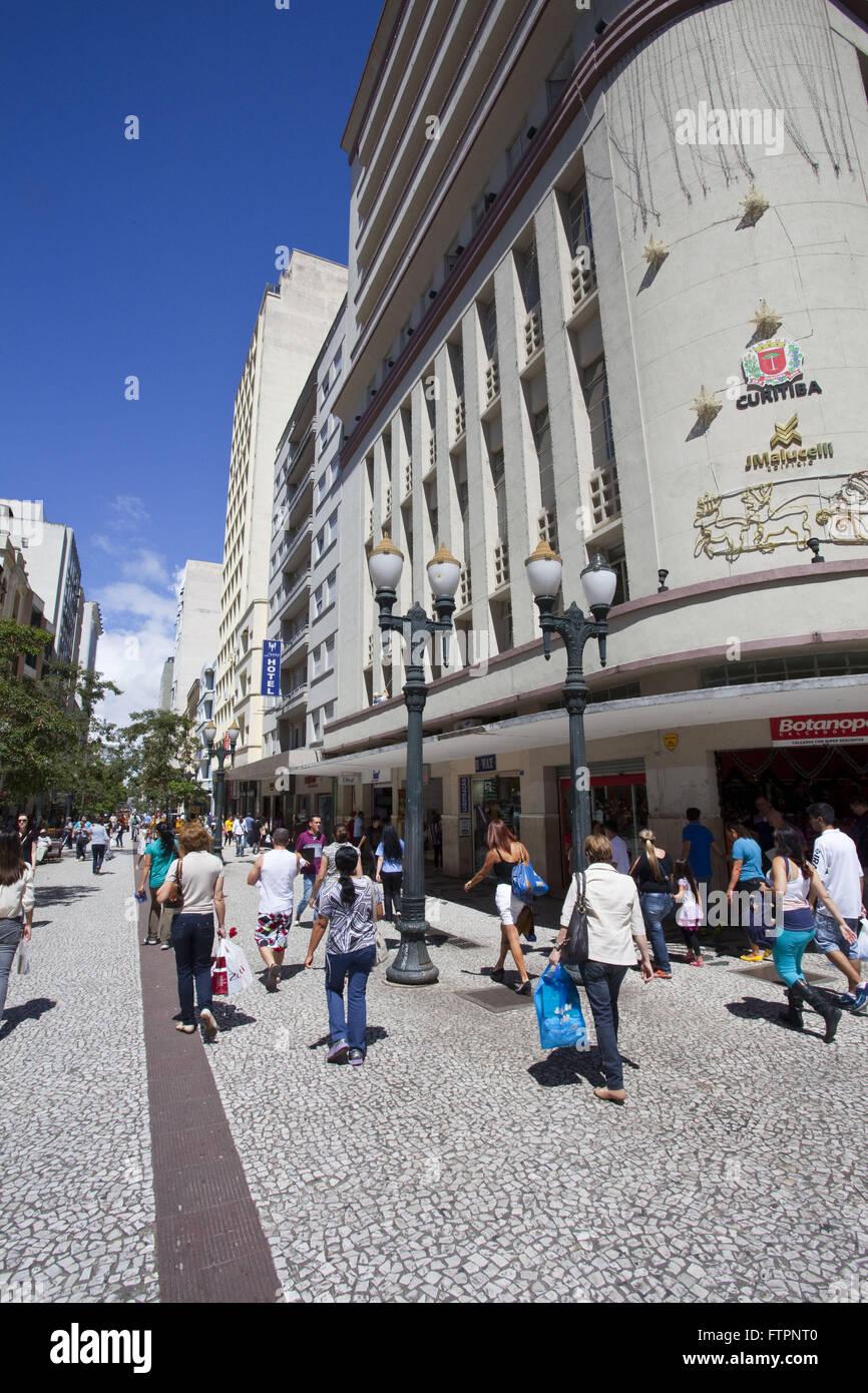 Rua das Flores - boardwalk in historic center Stock Photo
