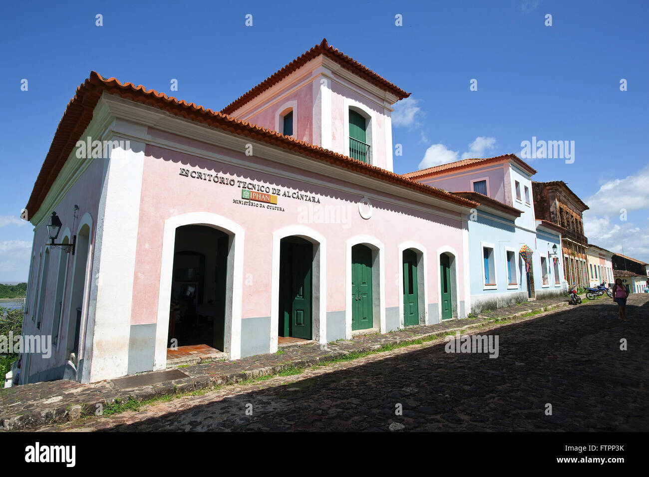 Office manager IPHAN installed colonial townhouse in the city center - Stock Image