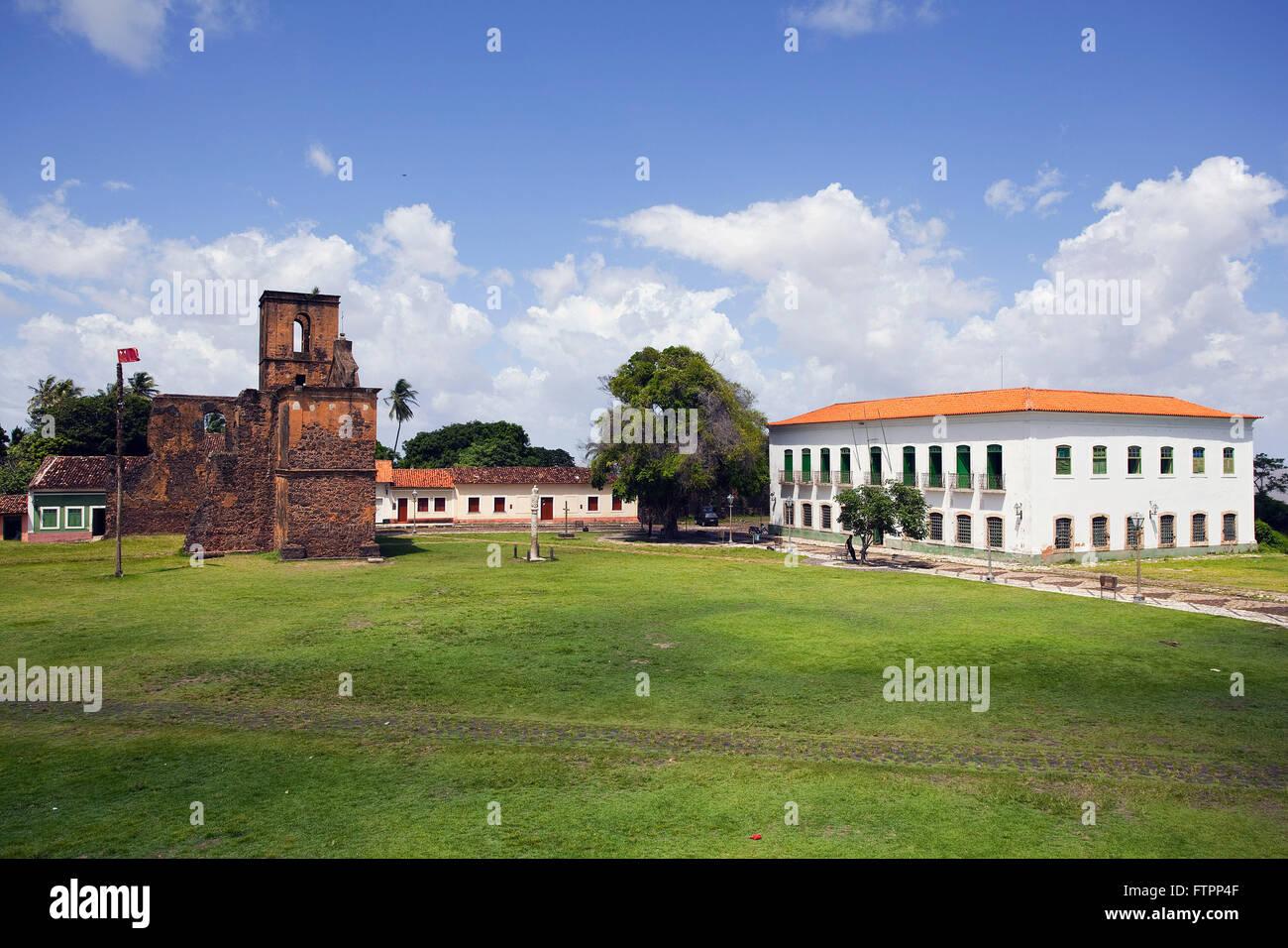 Ruins of the Church of Sao Matias - construction of the nineteenth century masonry - Stock Image