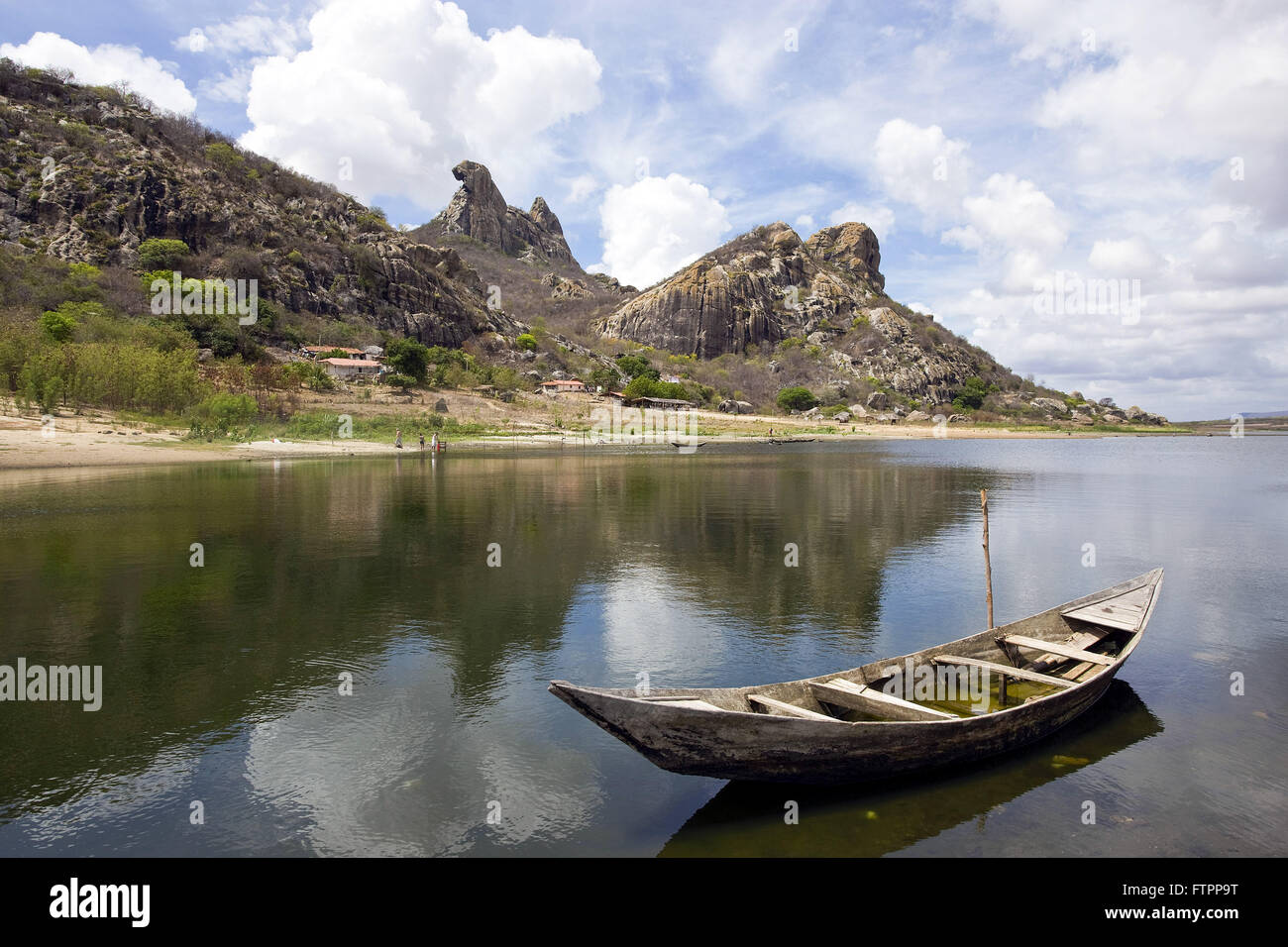 Dam Cedar Jaguaribe system - construction started in 1890 and inaugurated in 1906 - Stock Image