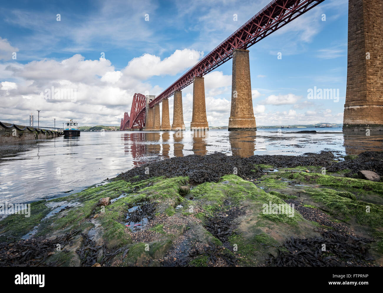 The Firth of Forth is the estuary or firth of Scotland's River Forth, where it flows into the North Sea. - Stock Image