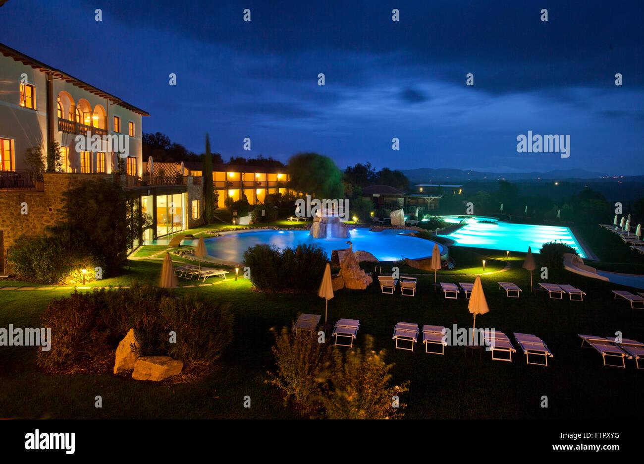 Hotel Adler Thermae Spa Relax Resort Bagno Vignoni Toscana Stock