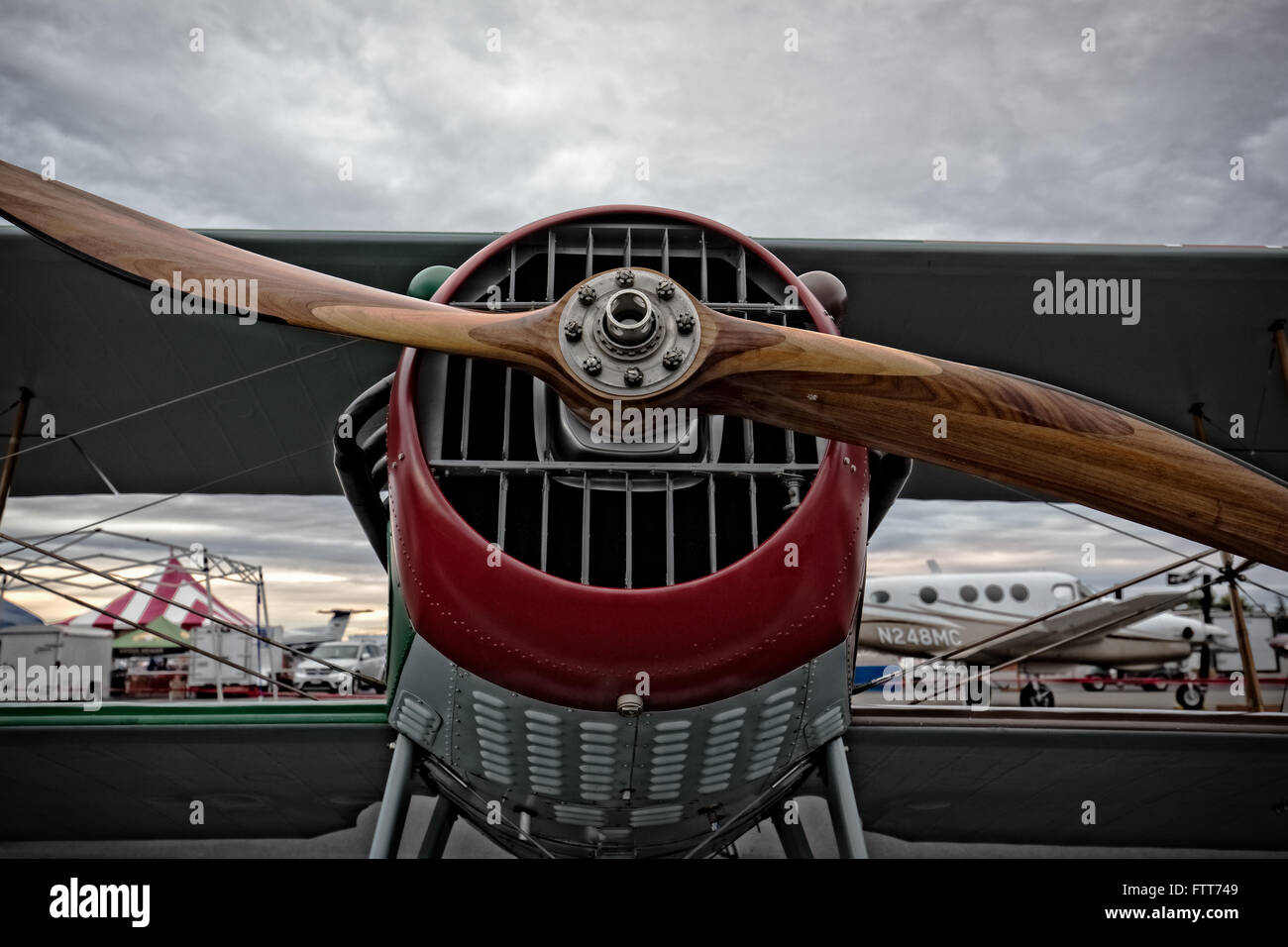 World War One French Spad fighter plane. - Stock Image