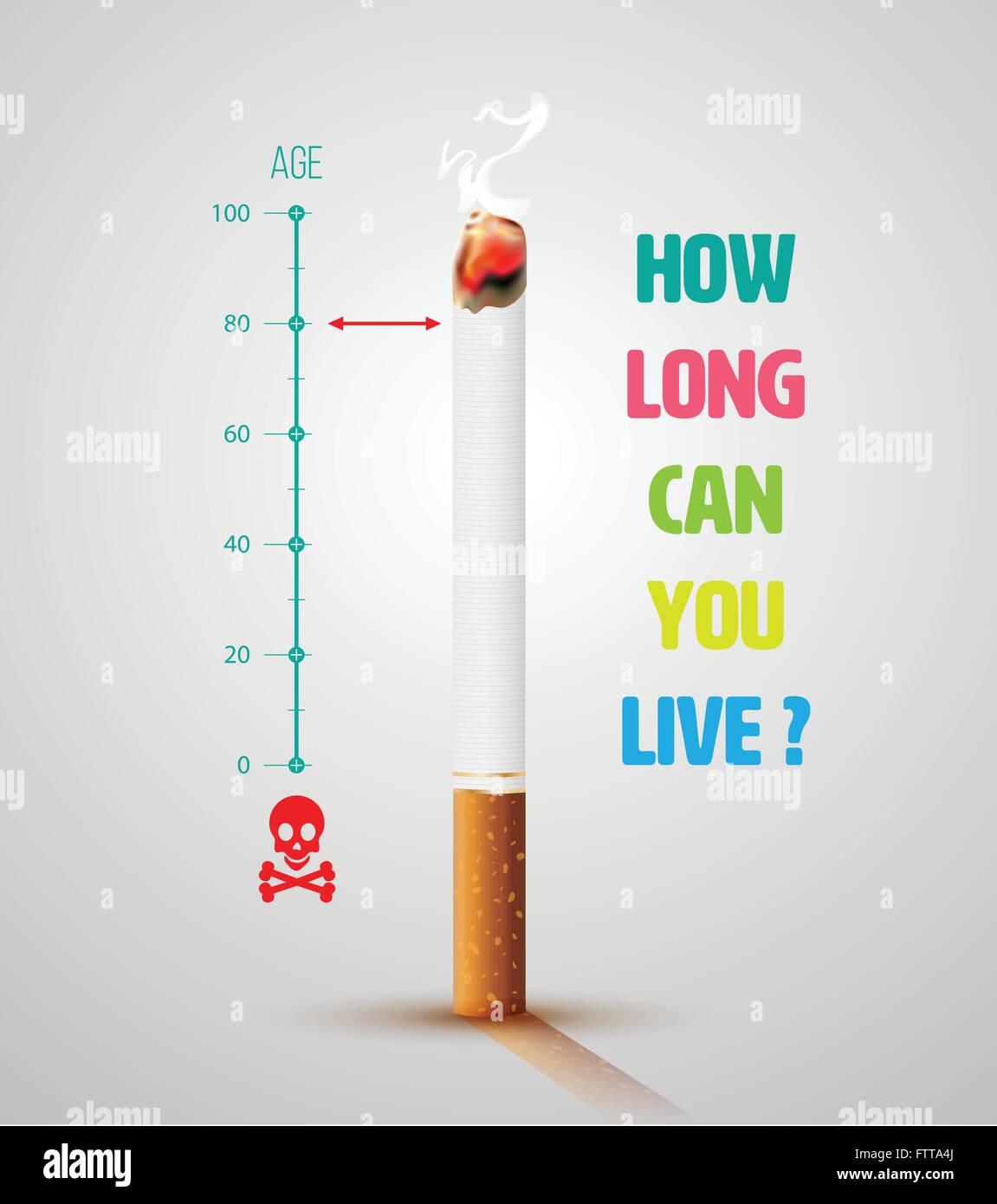 Anti Smoking Poster Stock Vector Images Alamy