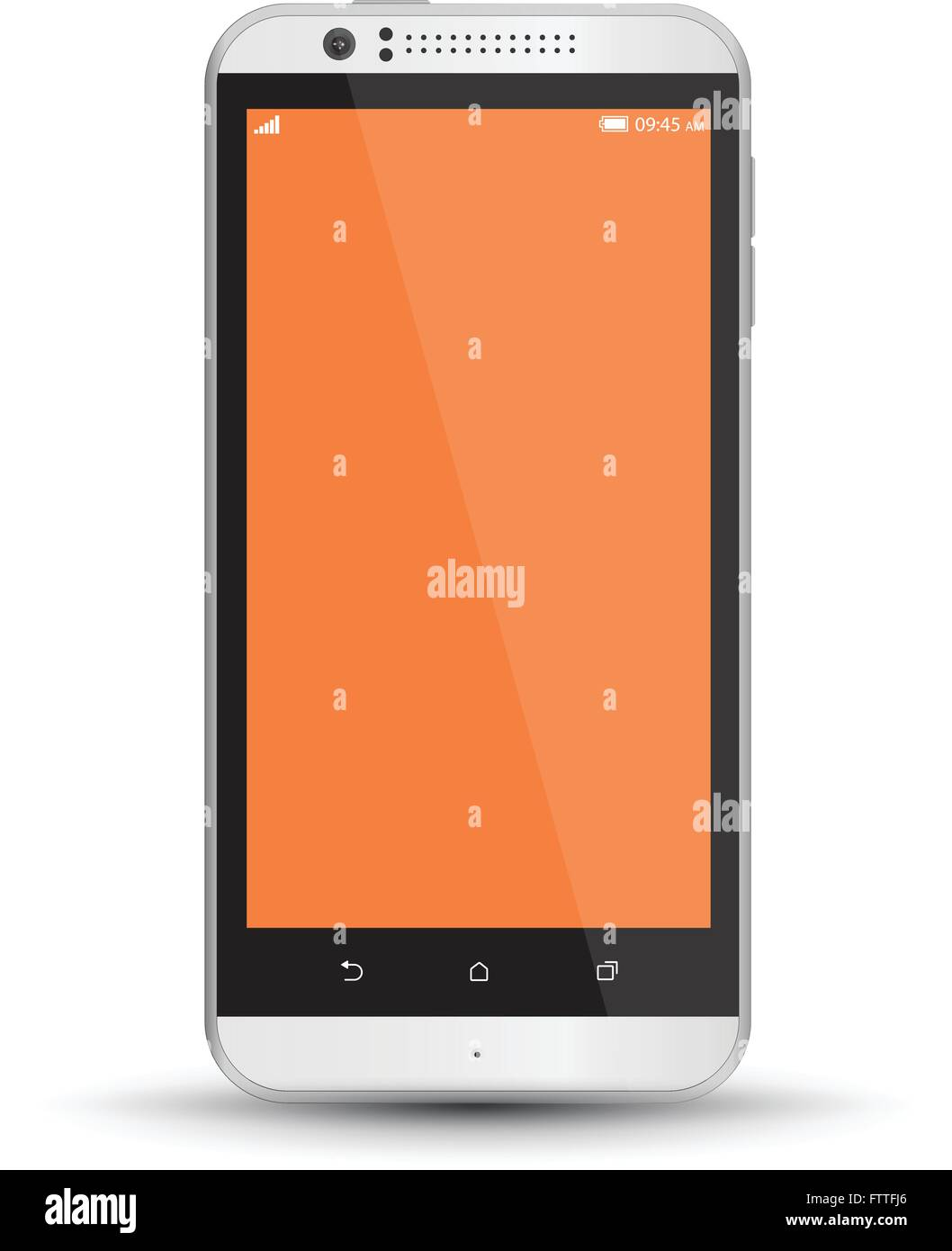 Mockup smartphones set vector realistic style. Vector illustration realistic. Can use for printing and web element. Stock Vector
