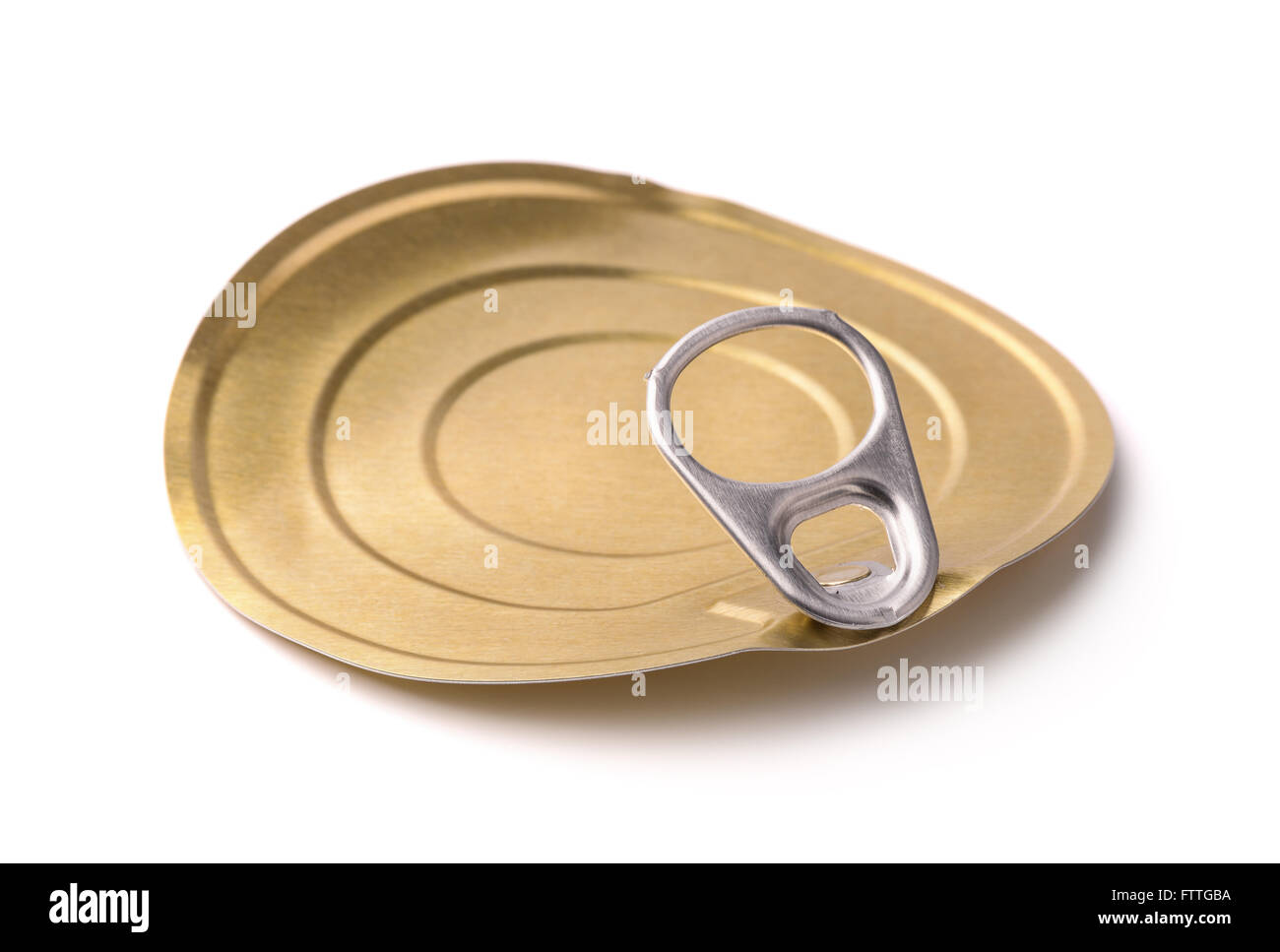 Tin can lid - Stock Image