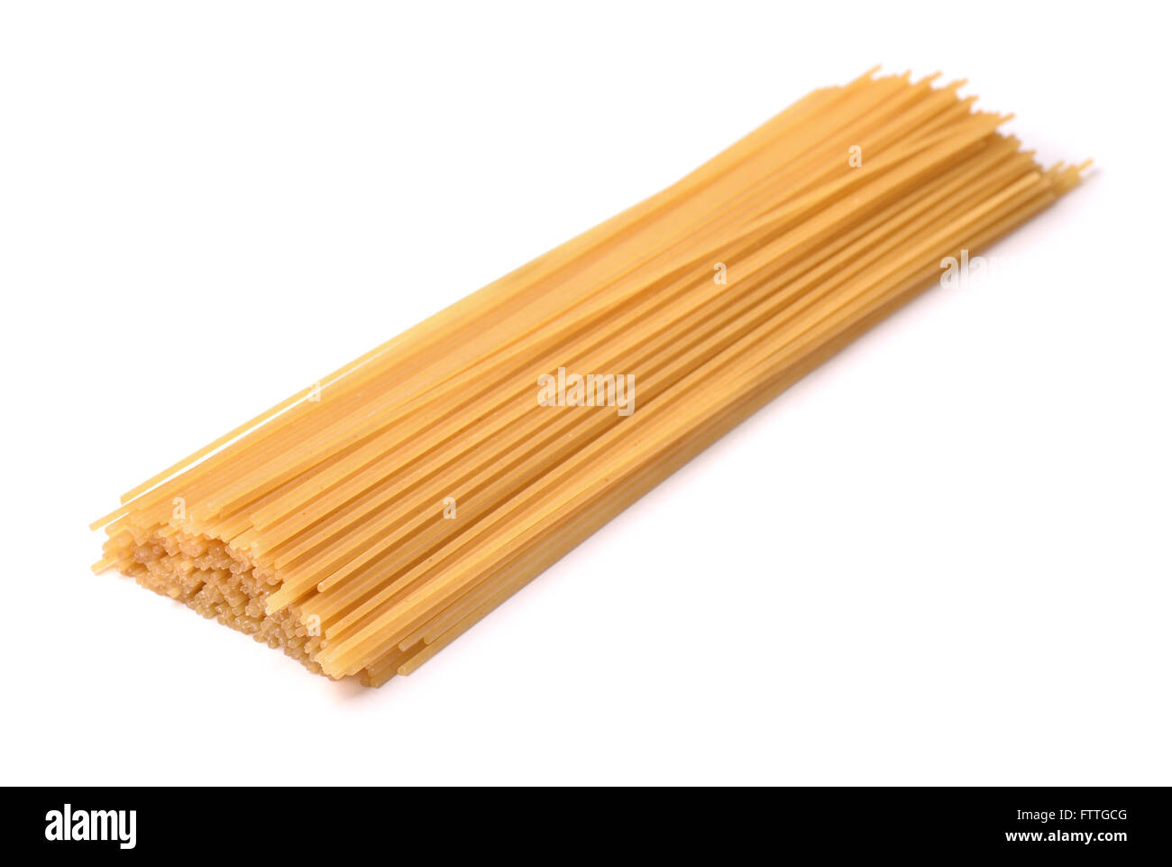 Raw italian pasta isolated on white - Stock Image