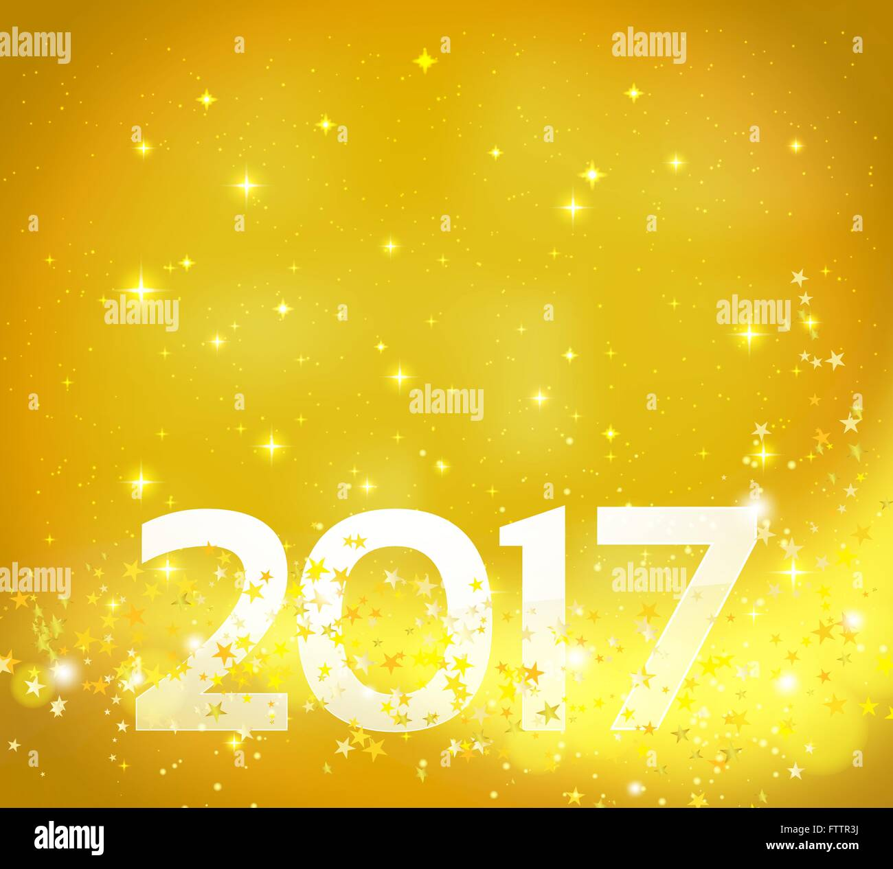 golden abstract background with 2017 number happy new year backgound vector design template