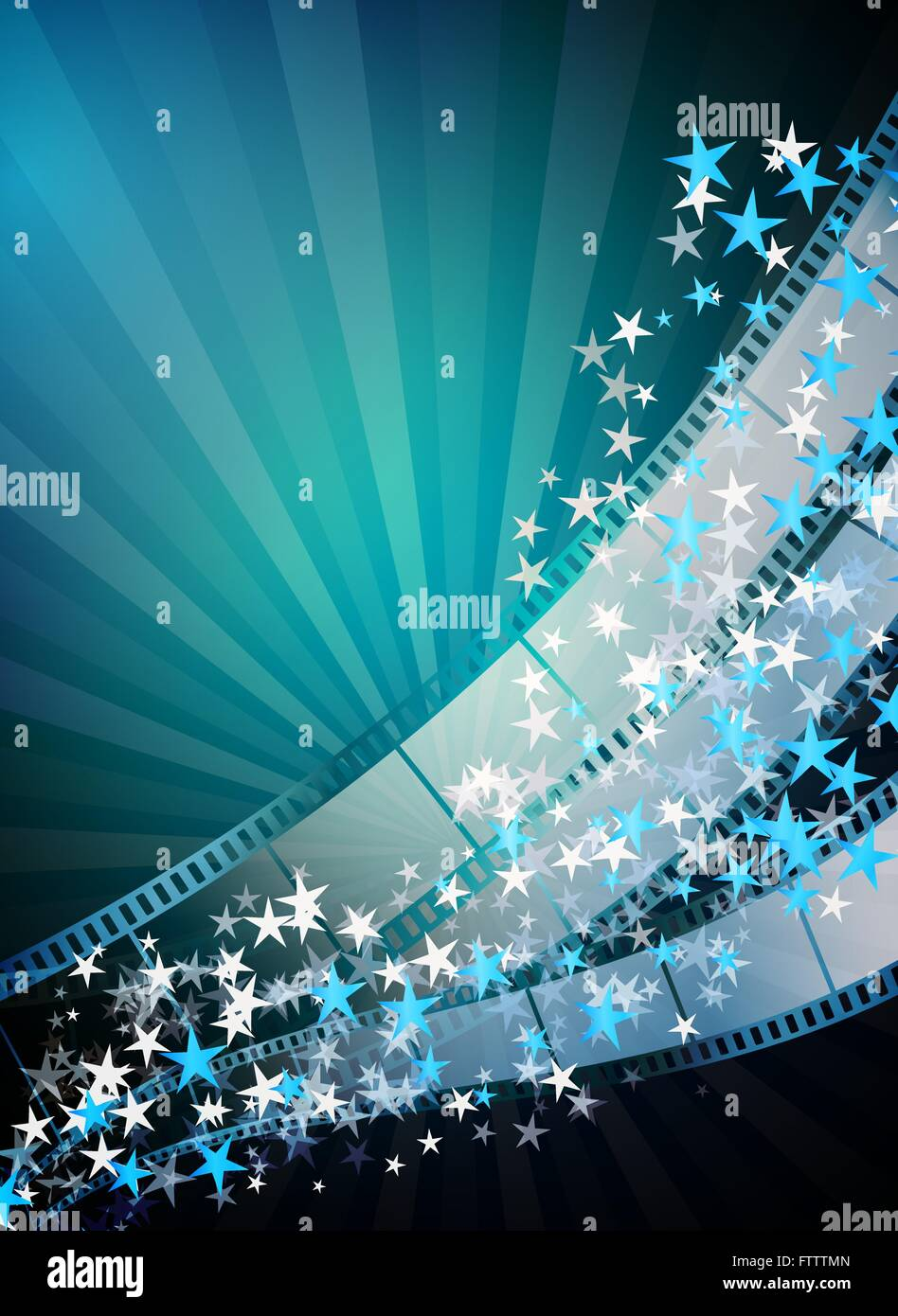 cinema vertical abstract background with film strips