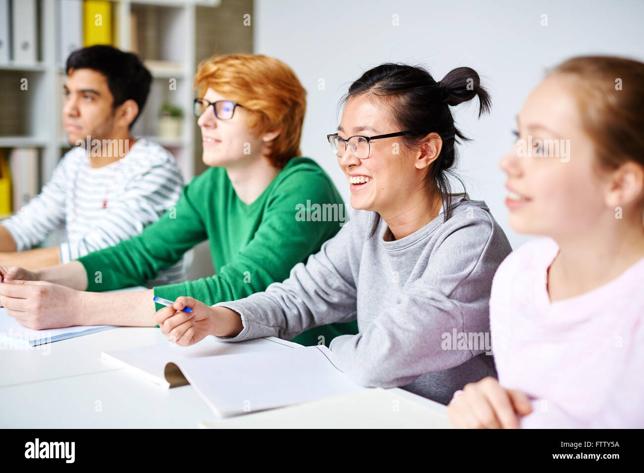 Students at lesson - Stock Image