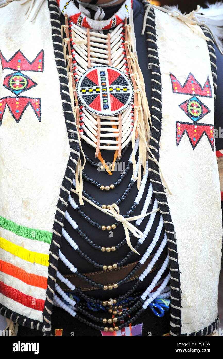Native american clothing. - Stock Image