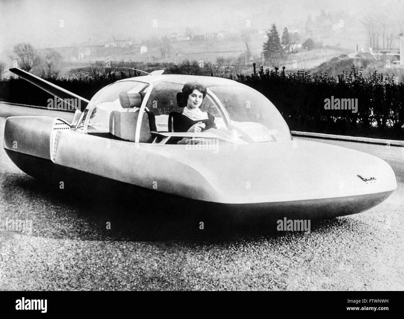 Simca Fulgur was a concept car designed in 1958 by Robert Opron. The car was designed to show what a car might look Stock Photo