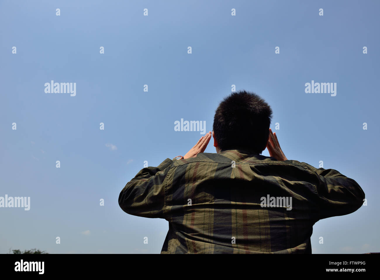 Man shouting - Stock Image