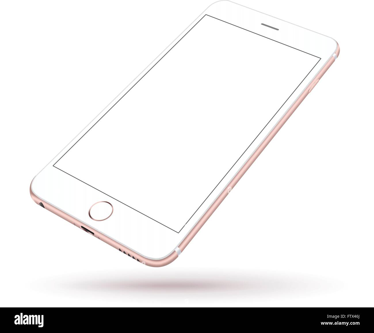 f518caa92b8e5d New realistic mobile phone smartphone collection iphon style mockups with  blank screen isolated on white background. Vector illu