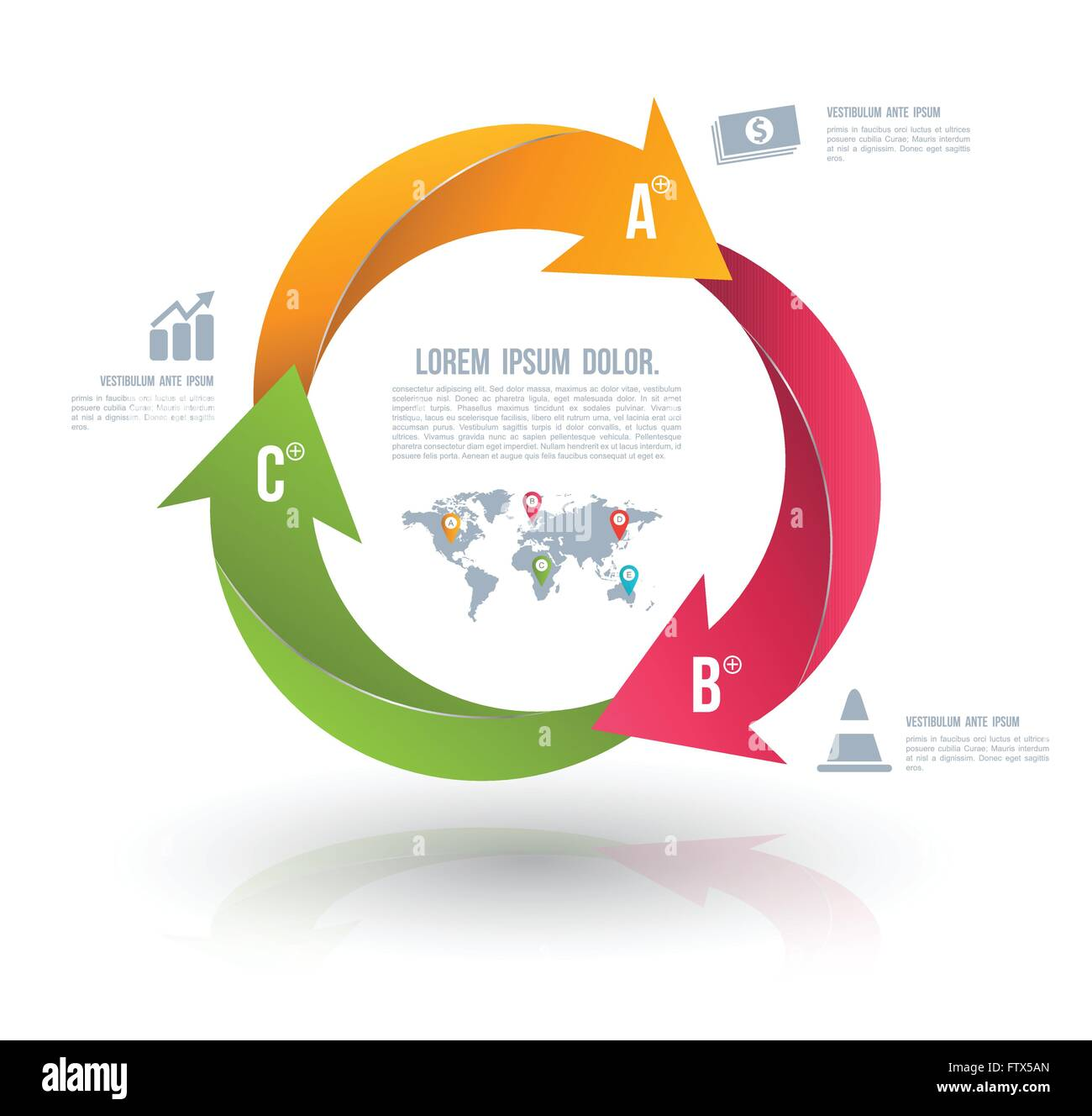 Vector circle arrows for infographic template for diagram graph vector circle arrows for infographic template for diagram graph presentation and chart business concept with 3 options ccuart Image collections