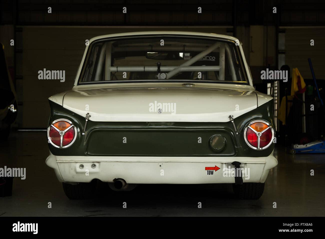 Ford Cortina Lotus British Touring Car Stock Photo
