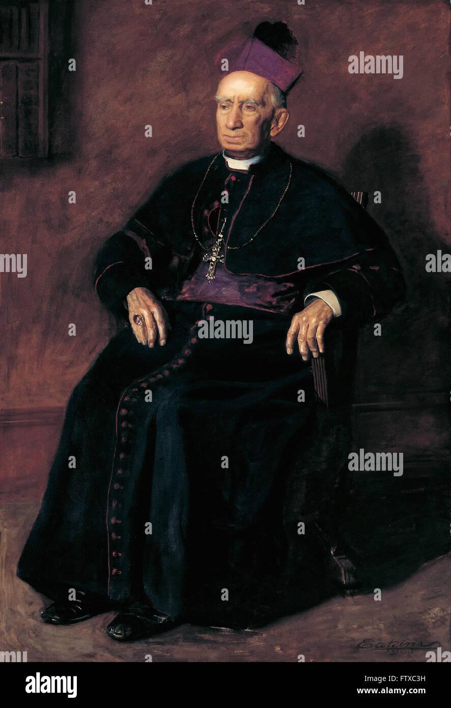 Thomas Eakins - Archbishop William Henry Elder -  Cincinnati Art Museum - Stock Image