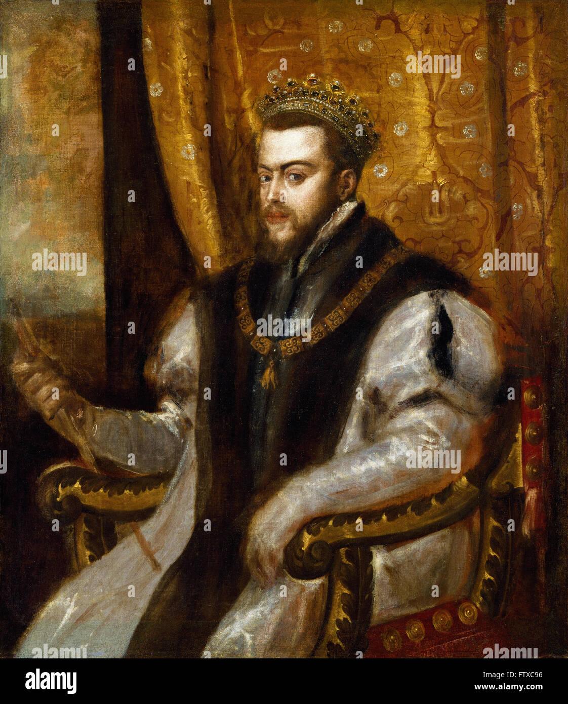 Titian - King Philip II of Spain -  Cincinnati Art Museum Stock Photo