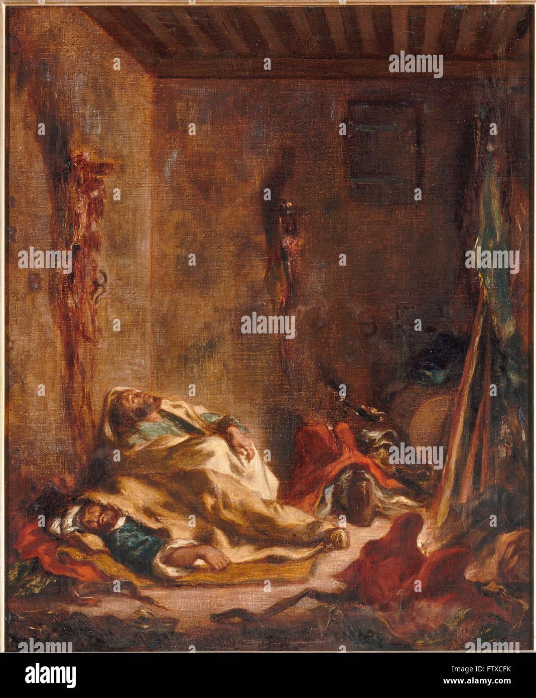 Eugène Delacroix - Le corps de garde à Meknès - Château de Chantilly - Stock Image