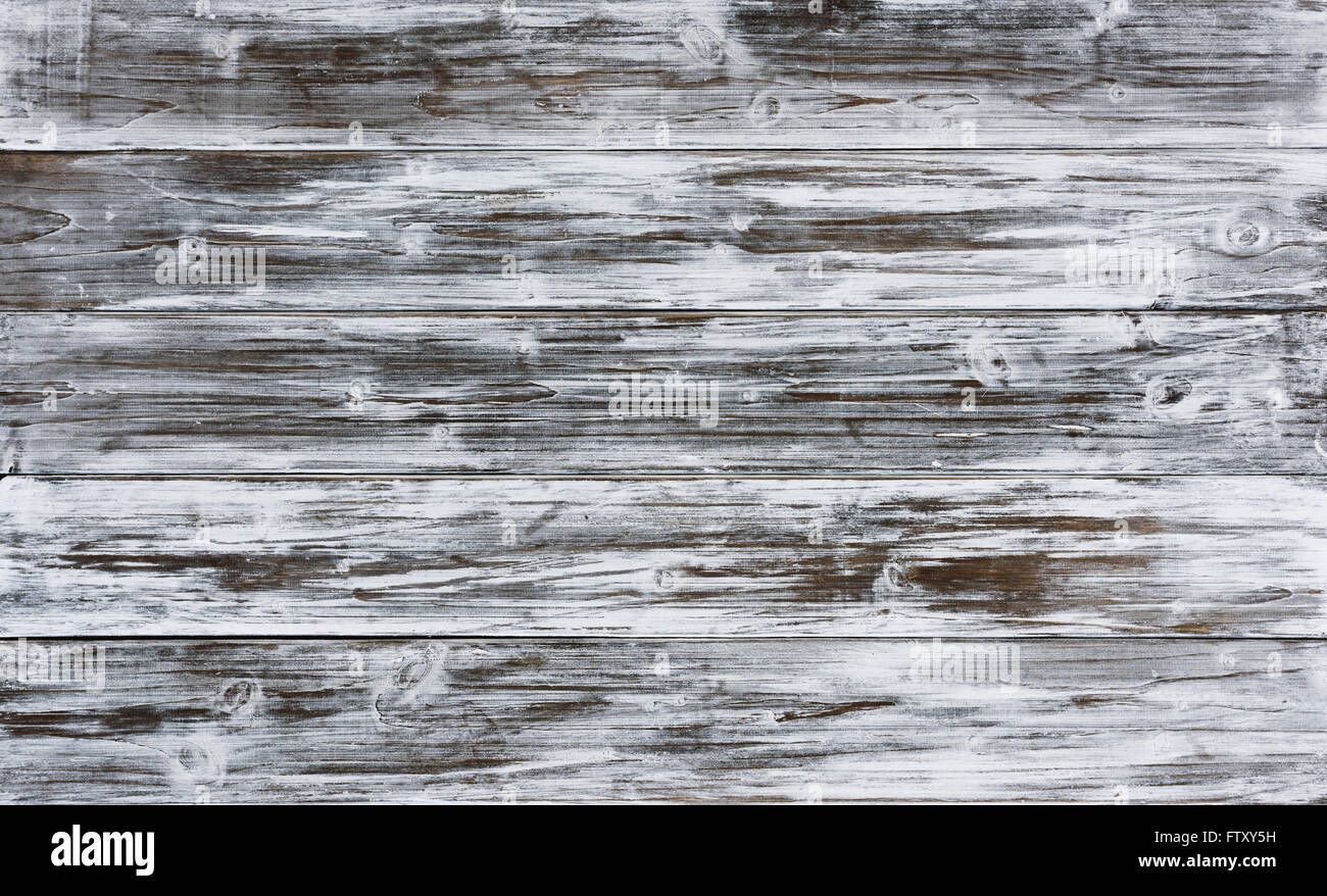 old background of wooden planks painted white paint - Stock Image