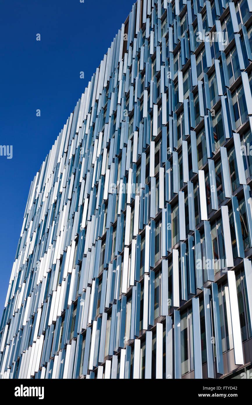 The Blue Fin Building Facade In Bankside London Vertical
