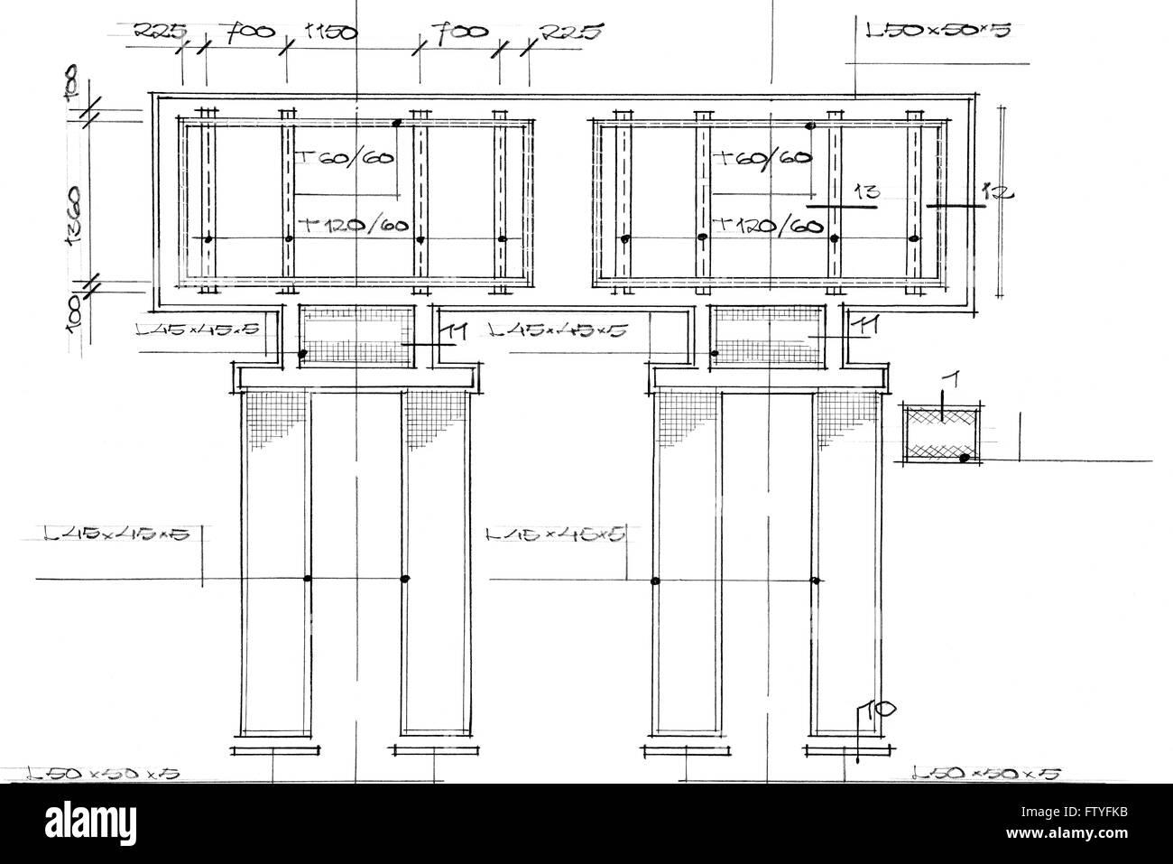 Blueprint - Stock Image