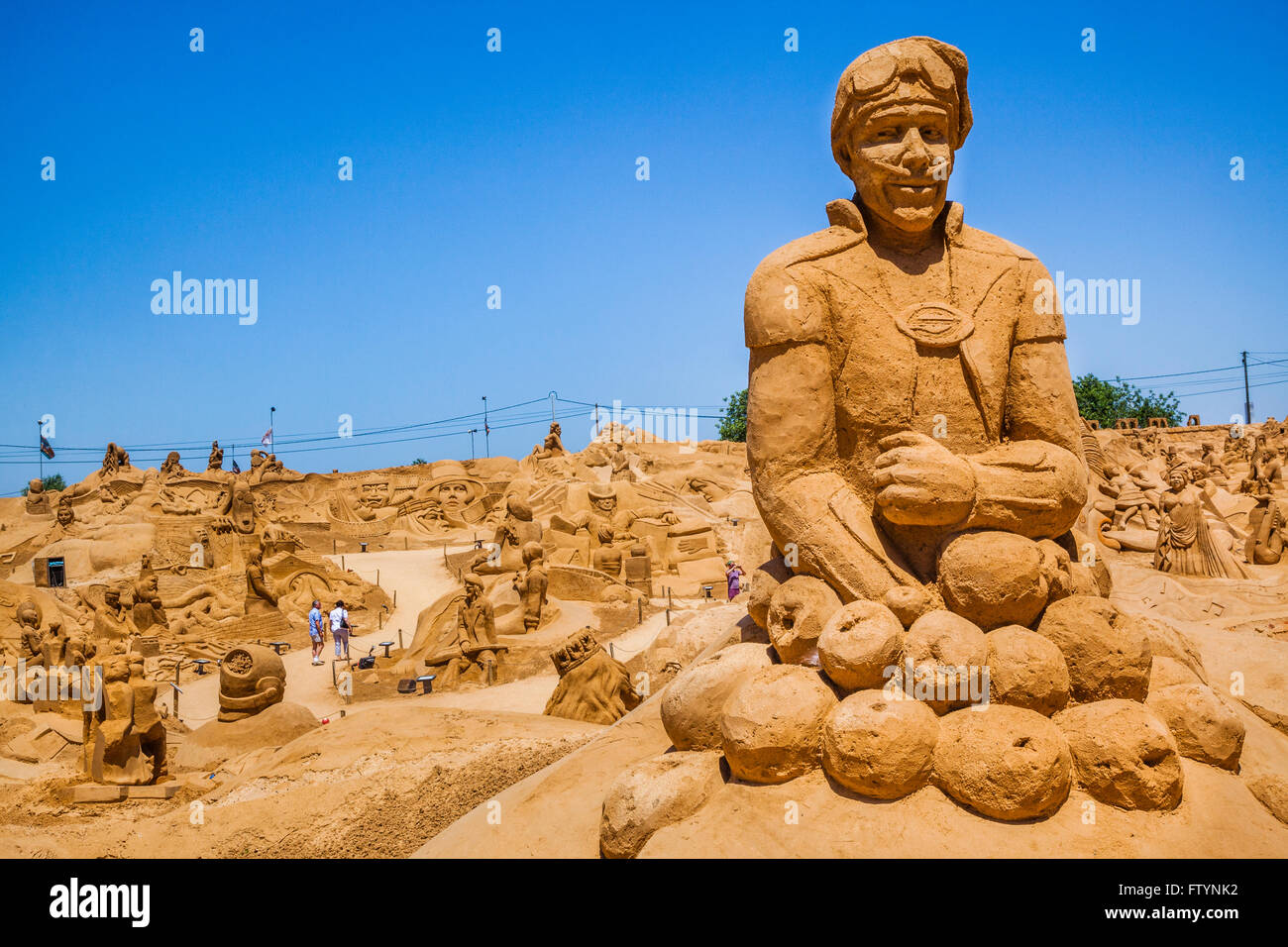 Portugal, Algarve, Faro district, Pera, FIESA International Sand Festival, sand sculptures with the 2013 theme of - Stock Image