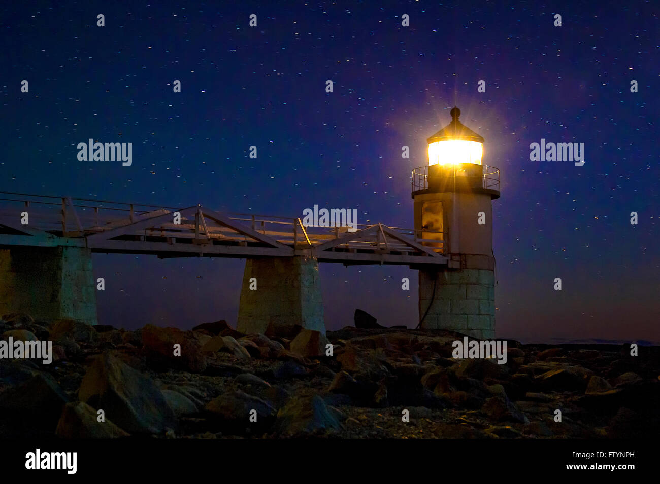 Marshall Point Lighthouse, Port Clyde, Maine, USA - Stock Image