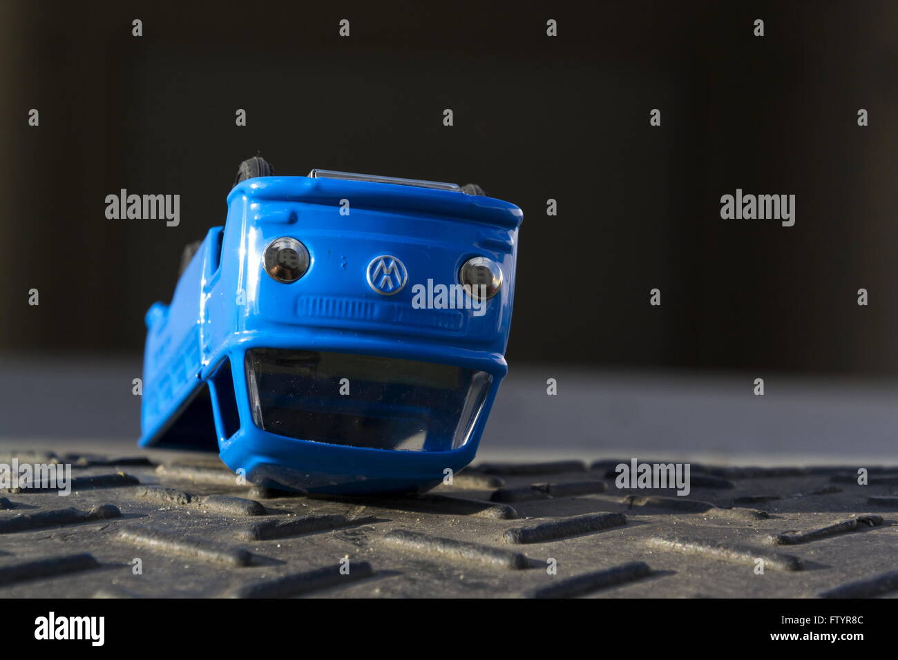 Illustrative photo of Volkswagen toy car for diesel engine emission scandal - Stock Image