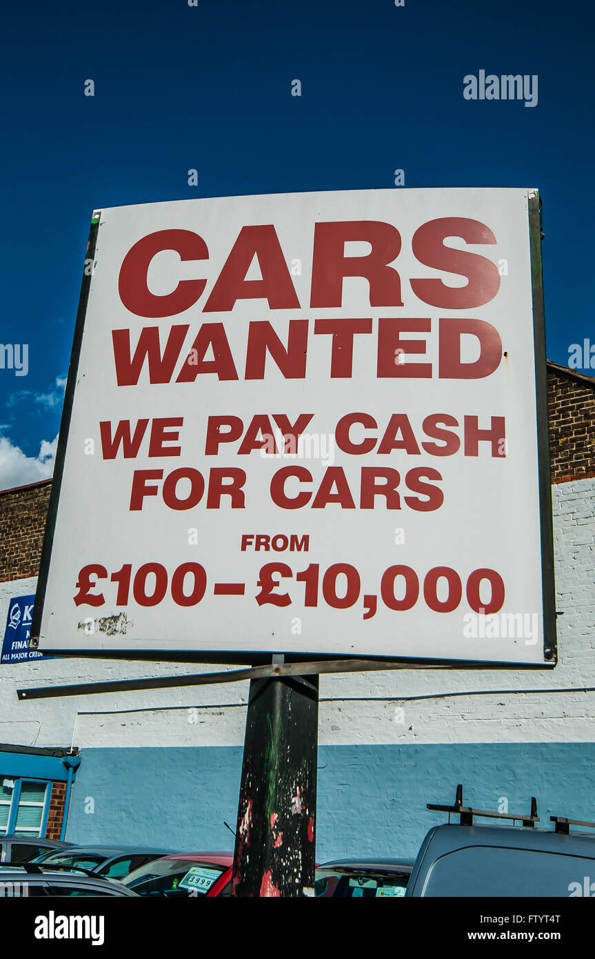 Buy Cars Cash Sign Stock Photos & Buy Cars Cash Sign Stock Images ...