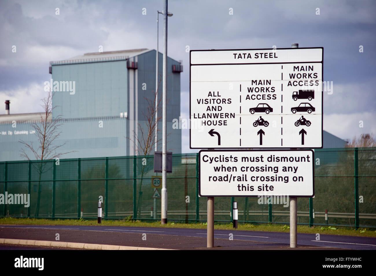 Tata Steel's steelworks at Llanwern, Newport,UK. a industry 'Port Talbot' 'Tata Group' - Stock Image
