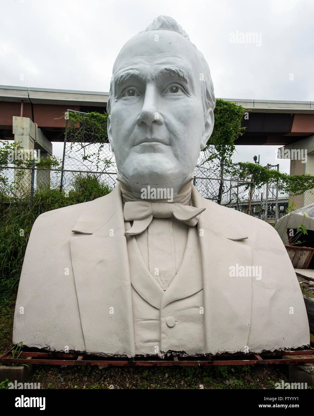 March 30, 2016 - Houston, Texas, U.S. -  Presidential heads by sculptor David Adickes are stored at the Adickes Sculpturworx Studio until a time when a permanent home is found for them.(Credit Image: © Brian Cahn via ZUMA Wire) Stock Photo