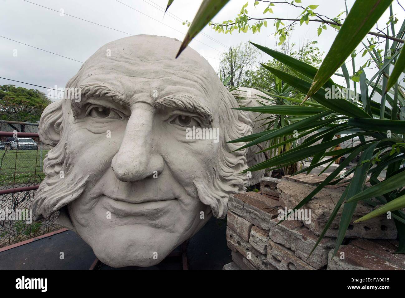 Houston, Texas, USA. 30th Mar, 2016. Presidential heads by sculptor David Adickes are stored at the Adickes Sculpturworx Studio until a time when a permanent home is found for them. Credit:  Brian Cahn/ZUMA Wire/Alamy Live News Stock Photo