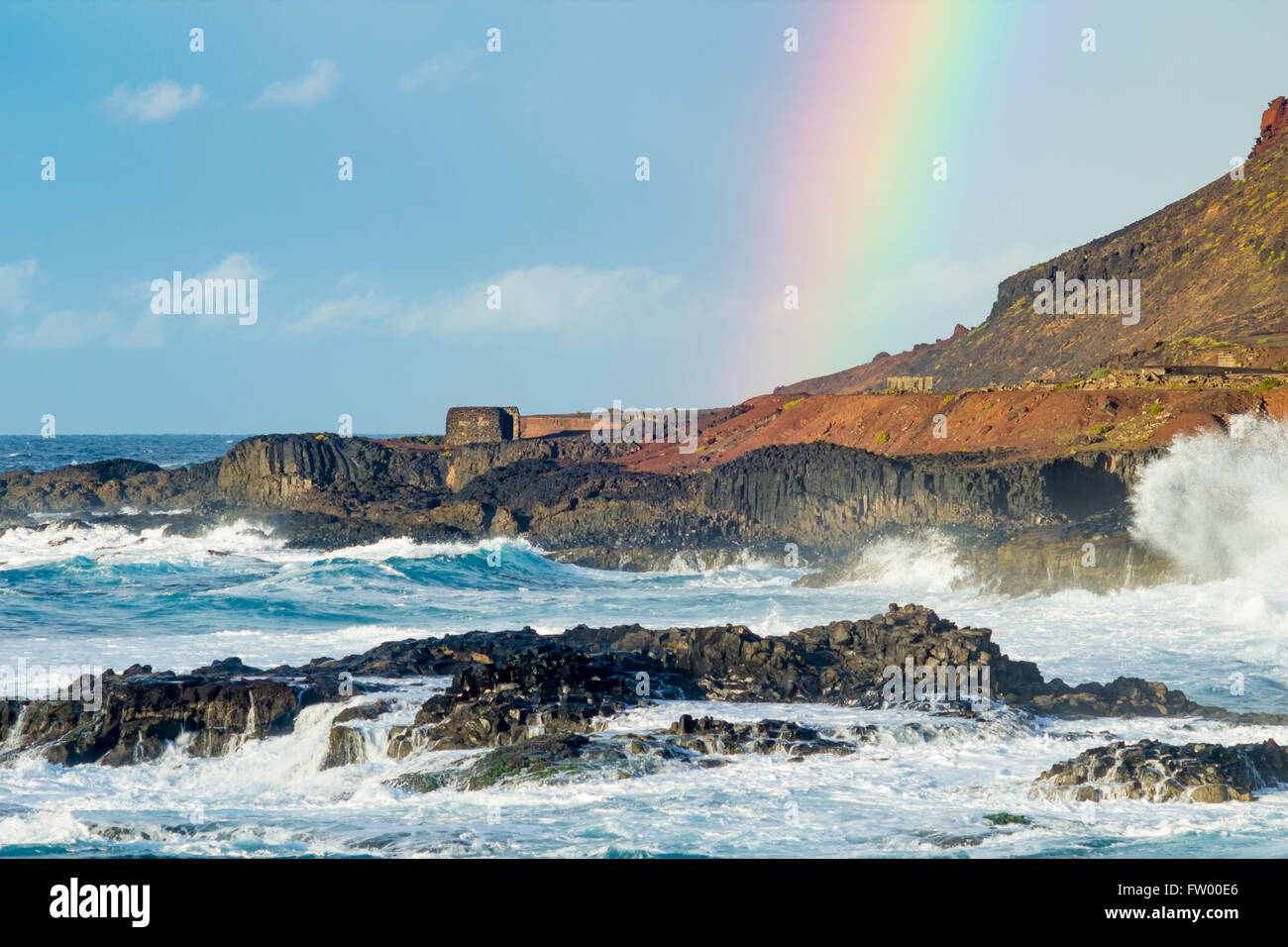 Las Palmas, Gran Canaria, Canary Islands, Spain, 30th March 2016. Weather: Warnings have been issued for heavy rain - Stock Image