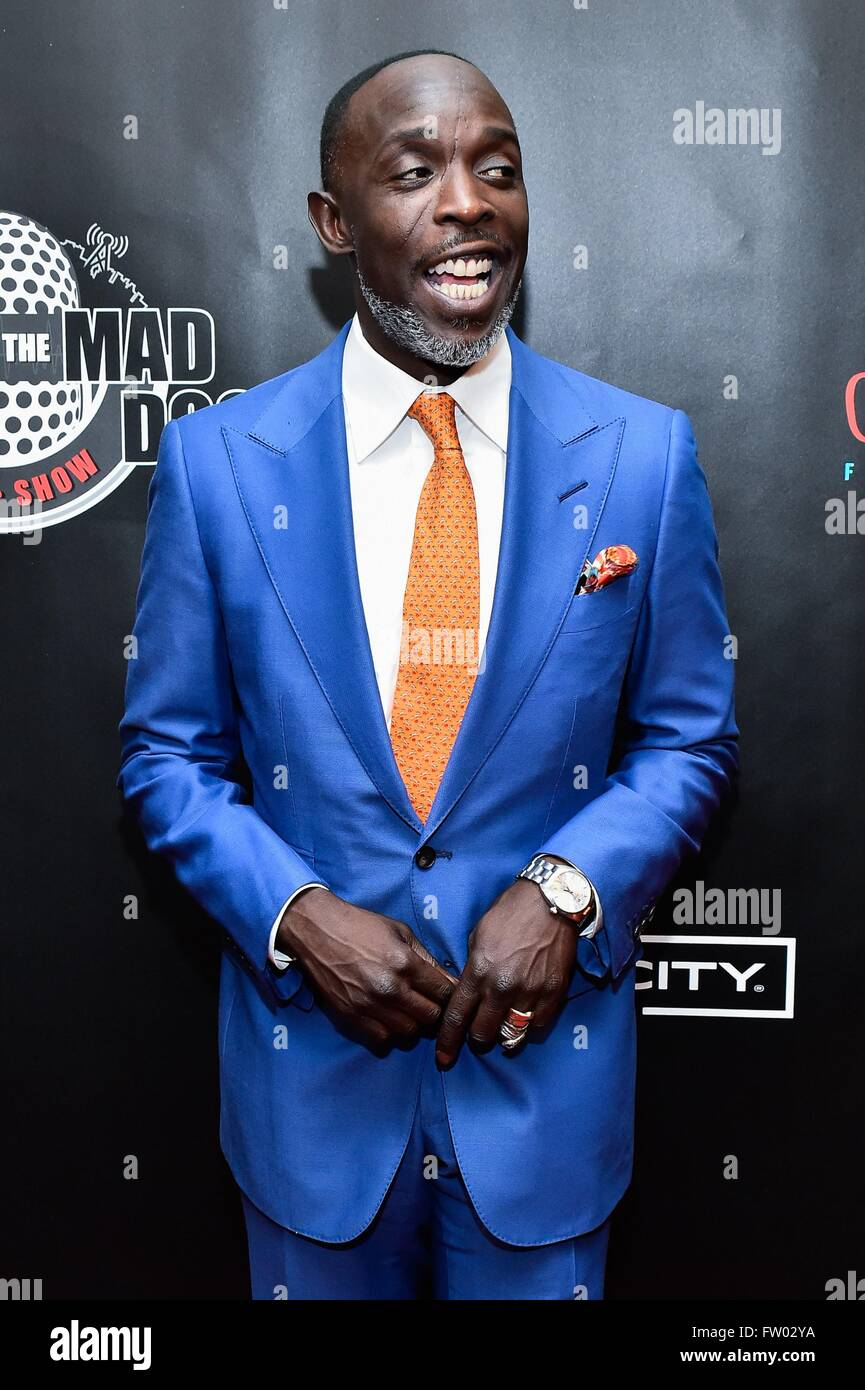 New York, NY, USA. 30th Mar, 2016. Michael K Williams in attendance for Mike And The Mad Dog Reunion Show, Radio Stock Photo