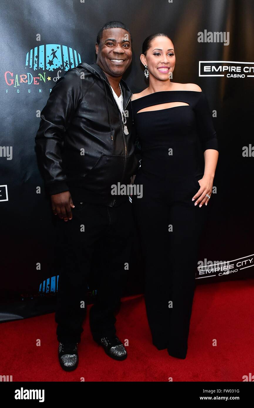 New York, NY, USA. 30th Mar, 2016. Tracy Morgan, Megan Wollover in attendance for Mike And The Mad Dog Reunion Show, Stock Photo