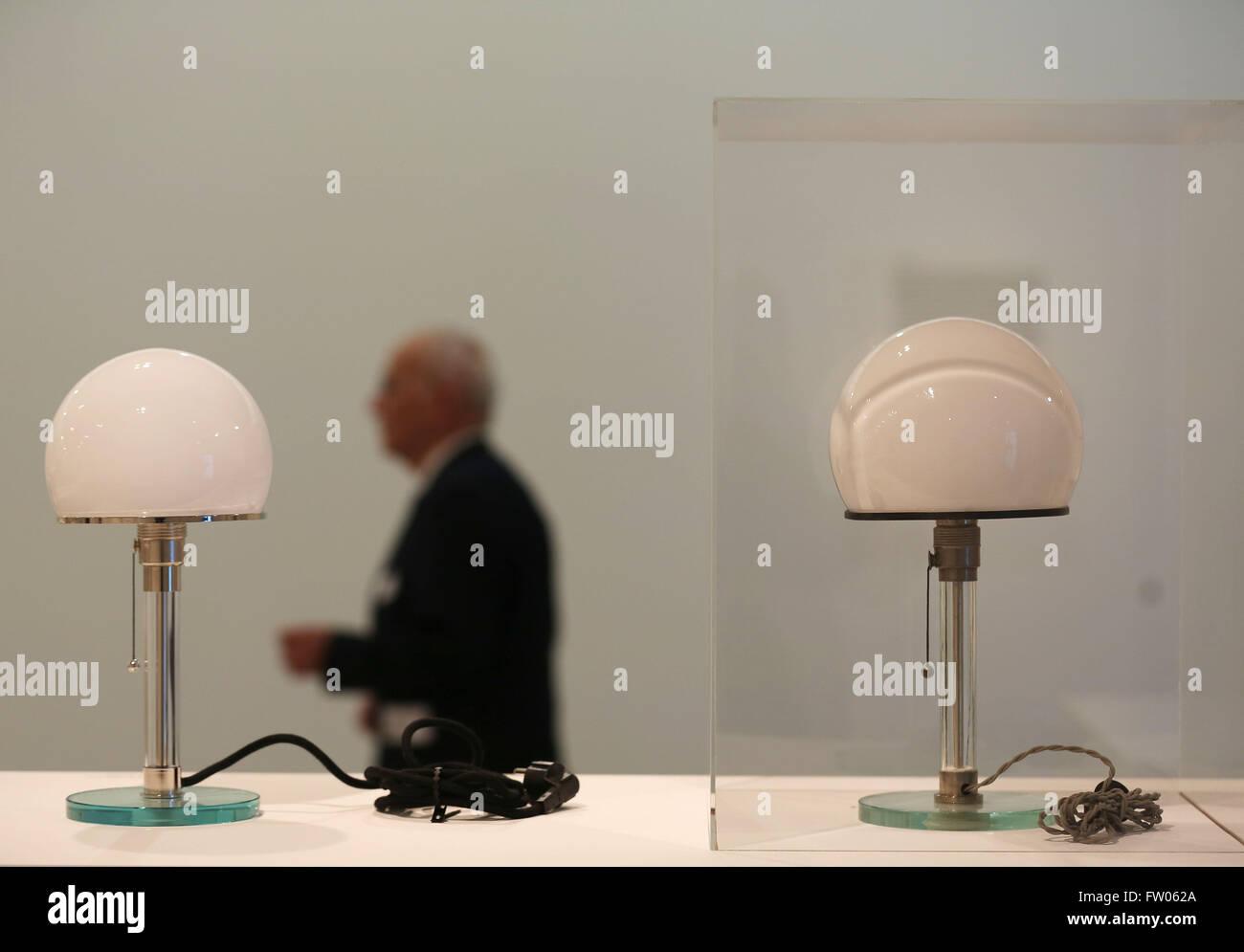 Bonn Germany 31st Mar 2016 A Man Walks Past An Original Desk