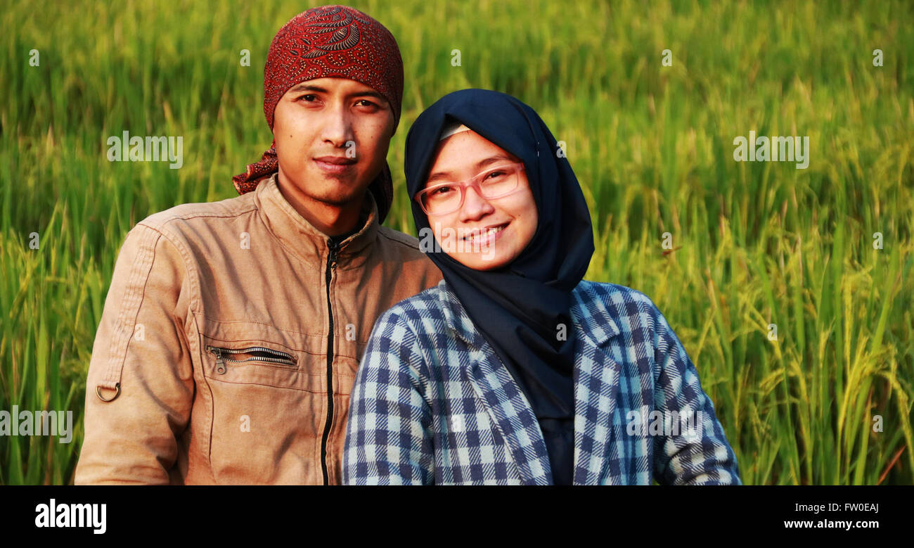 the couple .. - Stock Image
