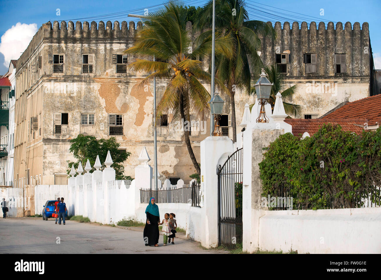 The Sultan's Palace on Stone Town, Zanzibar, Tanzania. - Stock Image