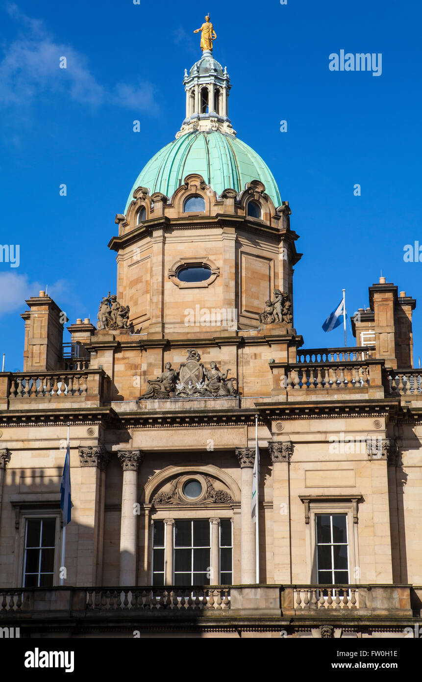 EDINBURGH, SCOTLAND - MARCH 10TH 2016: The exterior of the building which houses the main headquarters of the Bank Stock Photo