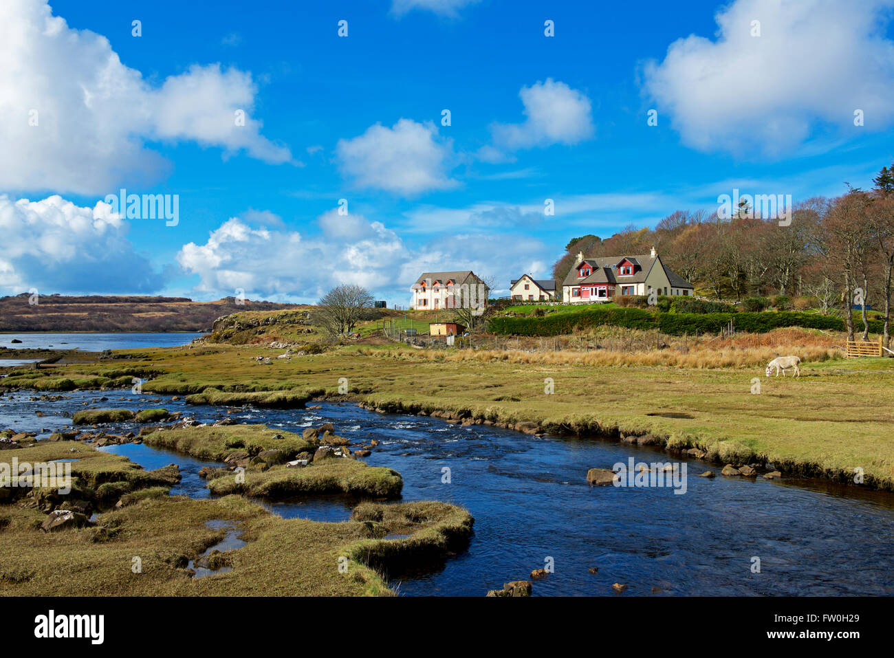 The village of Dervaig, Isle of Mull, Inner Hebrides, Scotland UK - Stock Image