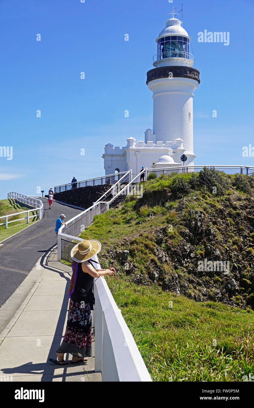 Cape Byron Light House at most easterly point in Australia. - Stock Image