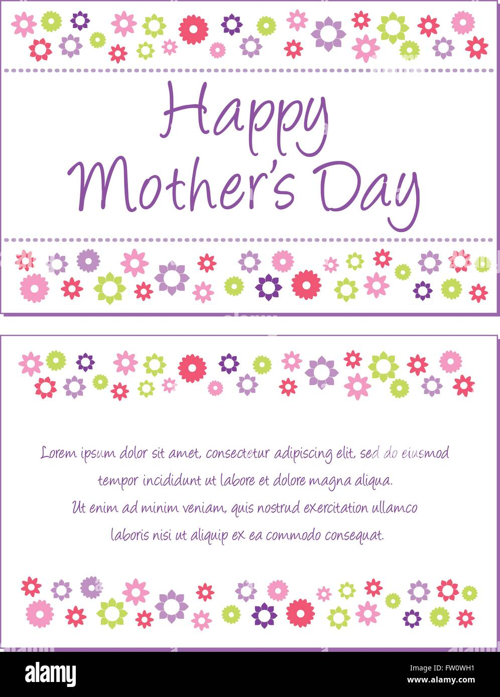 Enjoyable Happy Mothers Day Greeting Card Front And Back Illustration Birthday Cards Printable Opercafe Filternl