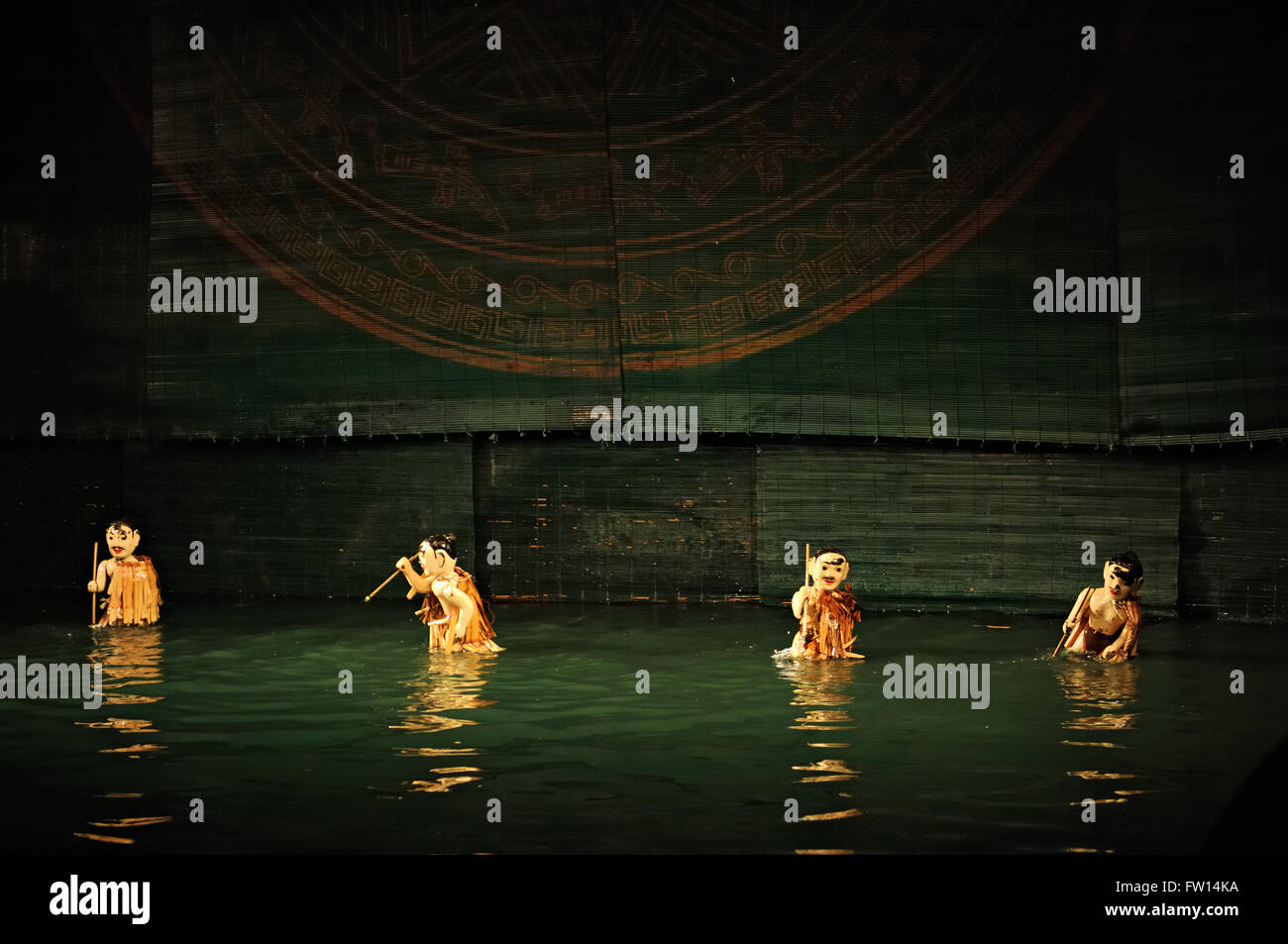 Thang Long Water Puppet Theatre in Hanoi, Vietnam Stock Photo