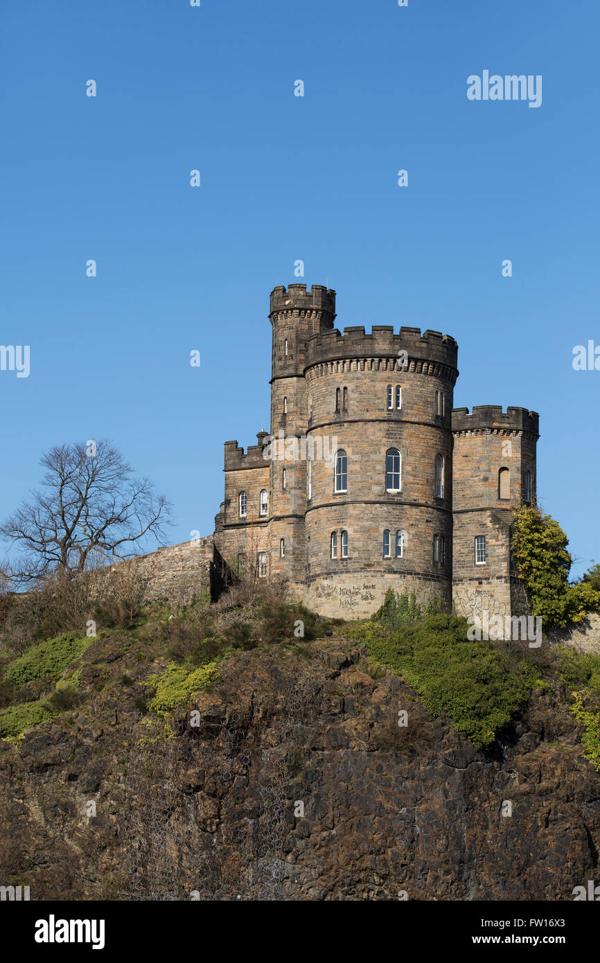 The Governor's House on Calton Hill in Edinburgh, Scotland. It stands next to the Old Calton Burial Ground. Stock Photo