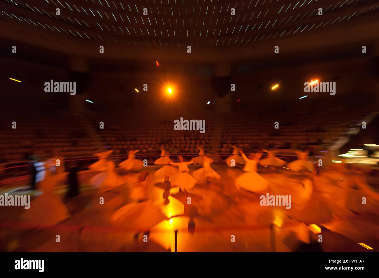 18.08-2013, Konya,Turkye. Dancing dervishes - Stock Image