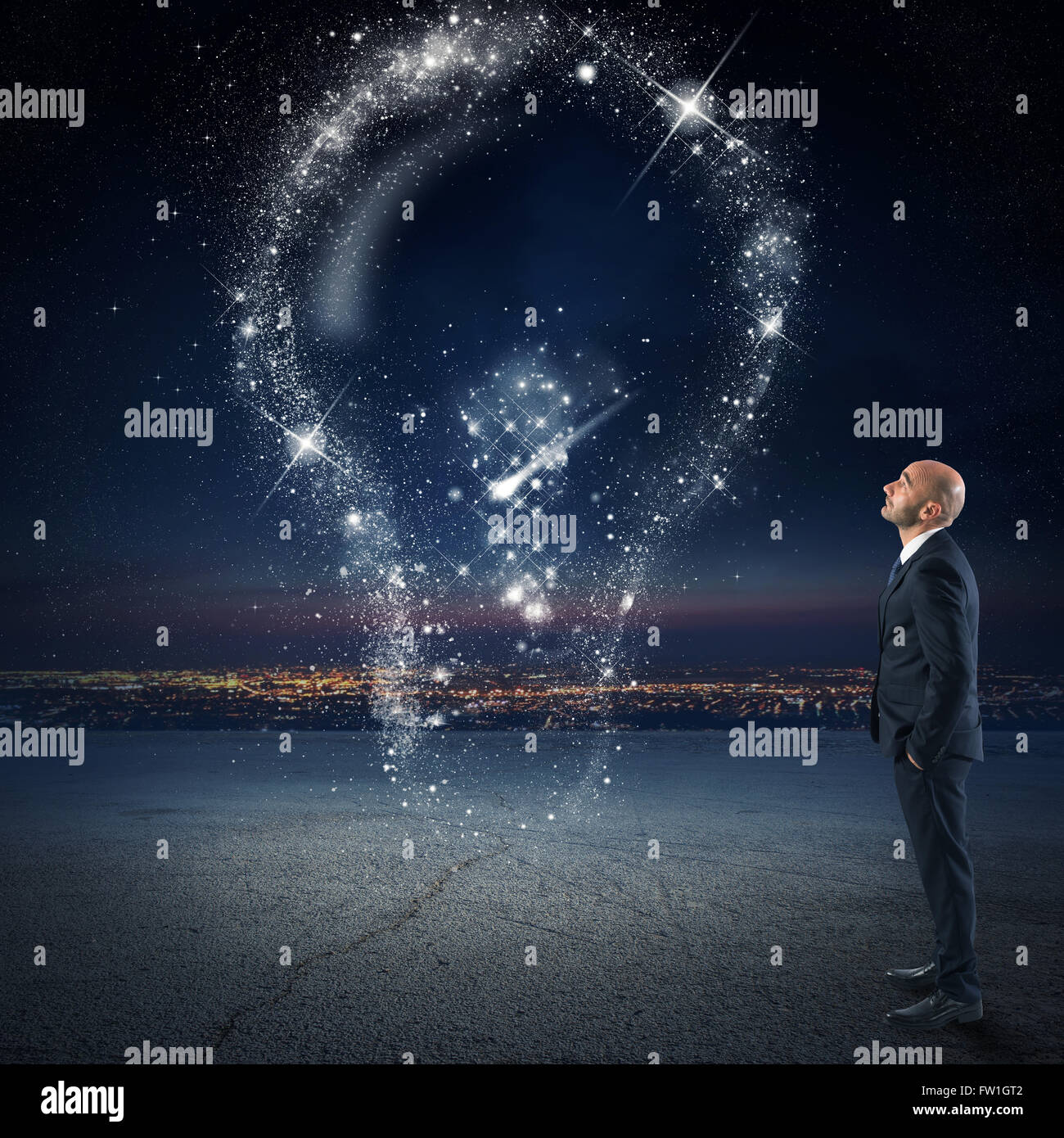 Bright idea as the stars - Stock Image